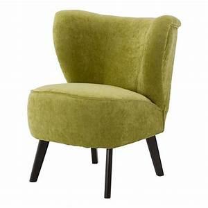 Fauteuil Scandinave Vert : fauteuil scandinave velours vert anis louis gabriel mooviin ~ Teatrodelosmanantiales.com Idées de Décoration