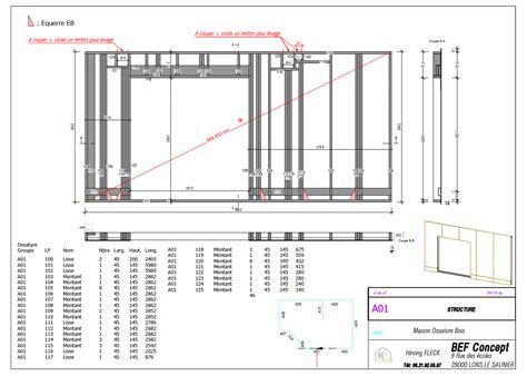 bureau d ude structure bois maison ossature bois plan si94 jornalagora