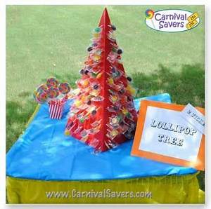 carnival lipop tree idea Paint as a Christmas Tree