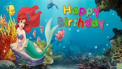 Mermaid Ariel Birthday Happy Disney Princess Song