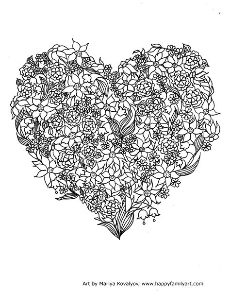 Adult Valentine's Day Coloring Pages
