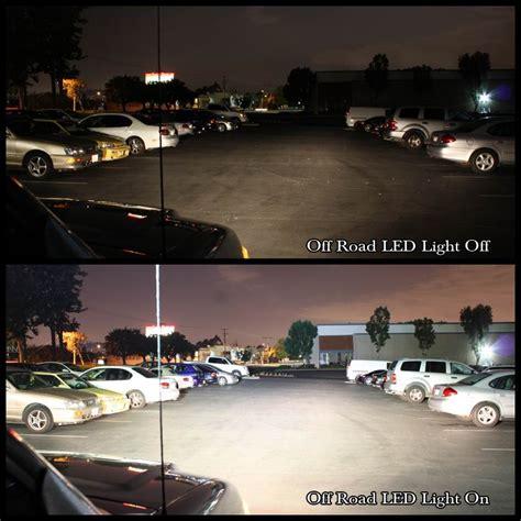 jeep light bar at night 8 quot 36w off road led light bar for truck suv utv atv boat