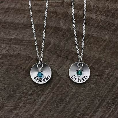 Necklace Silver Stamped Sterling Hand Mother Custom