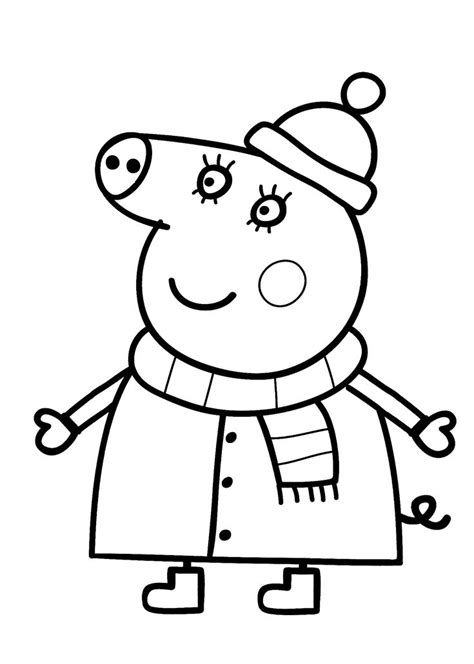 mom  peppa pig cartoon coloring pages  kids printable  coloring pages pinterest