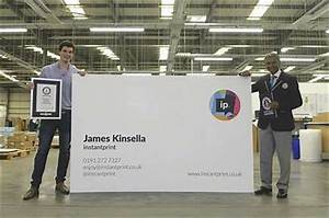 Printing firm produces world's biggest business card