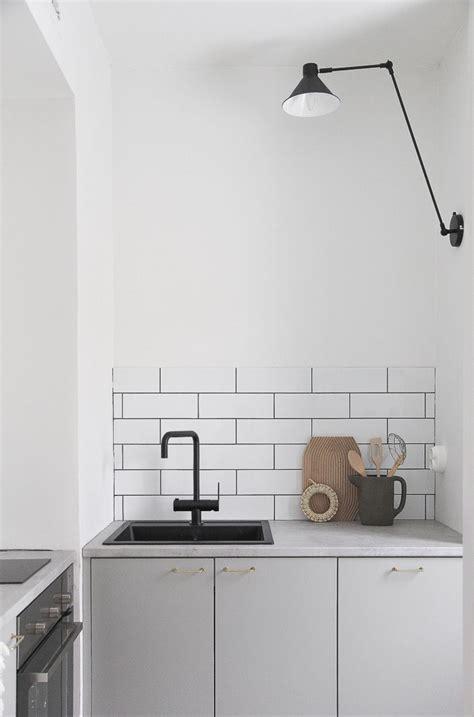 tiles for the kitchen grey kitchen black tap white tiles kitchen inspiration 6225