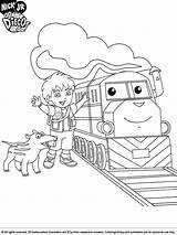 Diego Go Coloring Pages Printable Train Cartoon Coloringlibrary Library Boys Sheet Sheets Van Cool Kleurplaten Printables Gay Print Afkomstig Popular sketch template