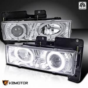 88 K Tahoe Blazer Halo Led Projector Headlights Left Right