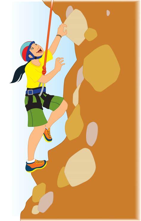 Rock Climbing Climber Clipart Image