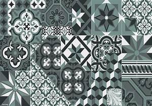 Set De Table Carreau De Ciment : set de table carreaux de ciment l on gris orage ~ Teatrodelosmanantiales.com Idées de Décoration