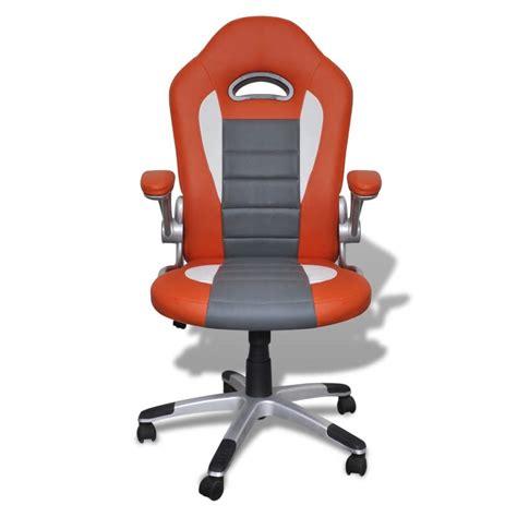 fauteuil de bureau orange la boutique en ligne fauteuil en similicuir moderne de