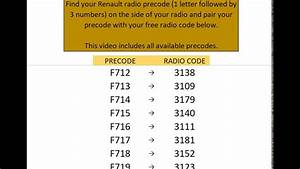 Free Renault Radio Codes  Unified