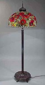 the 26quot oriental poppy floor lamp design of tiffany studios ny With original tiffany floor lamp