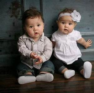 Boy and girl twins... One can only hope!! | Twin baby ...