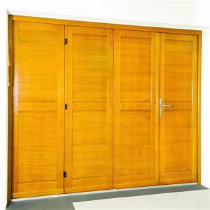 porte de garage en bois massif gpf fermetures With fabrication porte de garage en bois