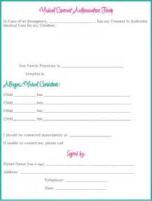 Printable Medical Consent Authorization Form