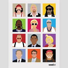 Minimalist Poster Of Famous Pot Smokers