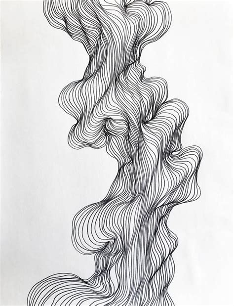 Design Modern Abstract Organic Shapes by Abstract Line Black And White Modern Drawing Organic