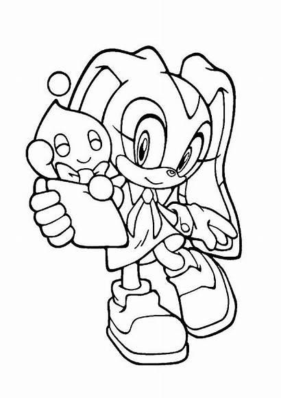 Sonic Coloring Cream Printable Dibujos Coloriage Fargelegging