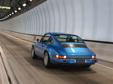Straat Porsche Metallic Blue