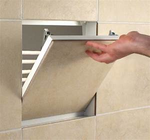 Tile access panel non fire rated metal 300x300mm for Tiled access panels bathroom