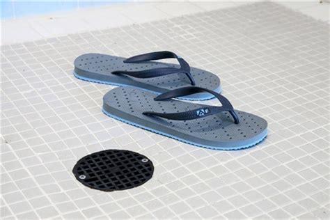 Shower Flip Flops With Holes - showaflops s antimicrobial shower sandal gray aqua