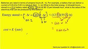 Batteries Are Rated In Terms Of Ampere