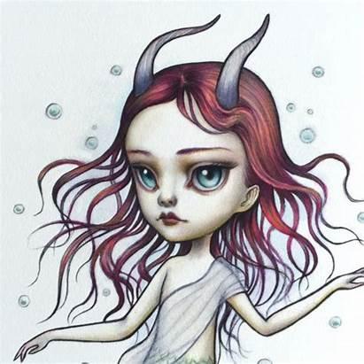 Capricorn Mab Graves Zodiac Pop Surrealism Lowbrow