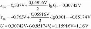 Elektrodenpotential Berechnen : zunehmend starke reduktionsmittel ~ Themetempest.com Abrechnung