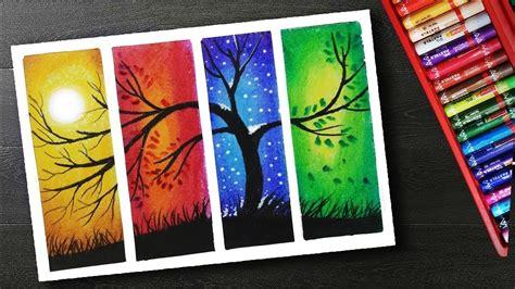 draw  season scenery drawing  oil pastels