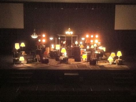 life church stage set  word   lamp   feet