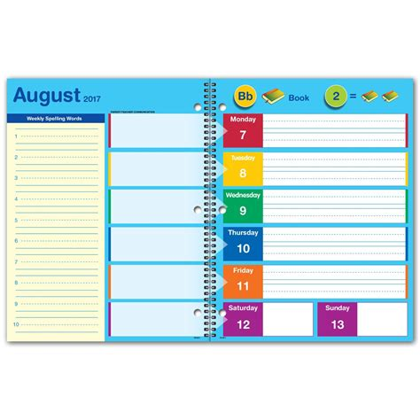 student planner elan publishing dated student planners year