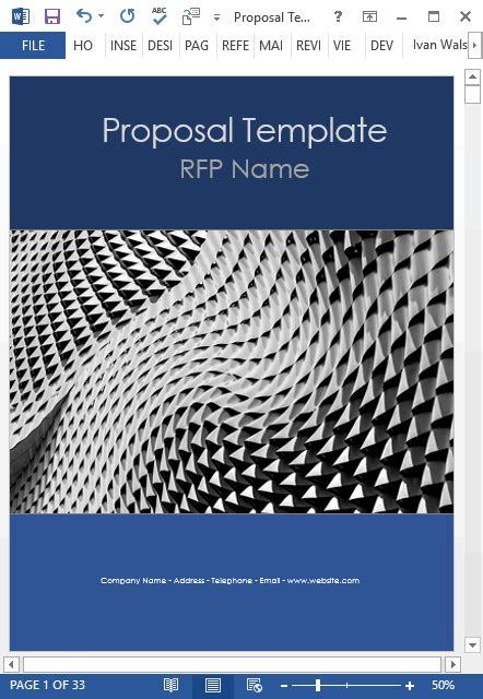 business proposal templates ms word  excel