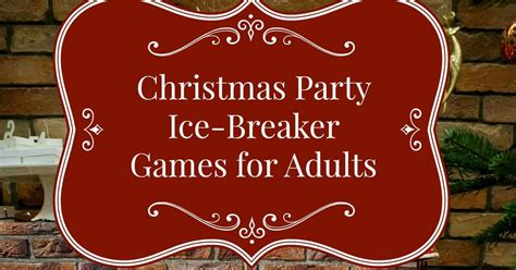adult ice breaker christmas for adults