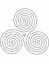 Spiral Printable Coloring Celtic Pattern Crafts Supercoloring Select sketch template