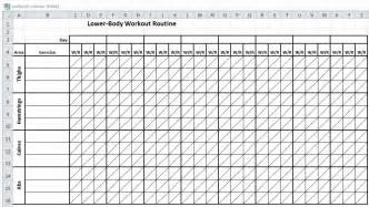 Workout Plan Template Excel Excel Workout Routine Sheets Workout Sheets