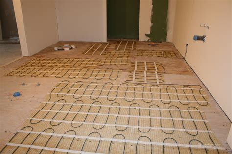 warm up cold bathroom floors with electric in floor