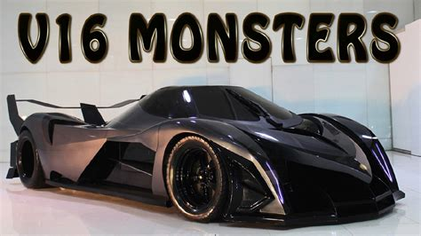 top 9 cars with 16 cylinder engine youtube