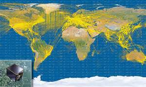 satellite map shows  aircraft   travel