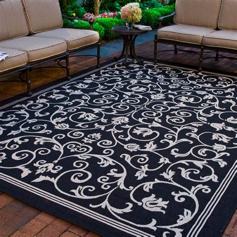 Safavieh Indoor Outdoor Rugs by Safavieh Courtyard Black Sand 4 Ft X 5 Ft 7 In Indoor