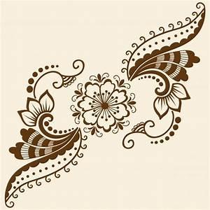 Verspielter Floraler Design Stil : vektor illustration von mehndi ornament traditioneller indischer stil ornamentale florale ~ Watch28wear.com Haus und Dekorationen