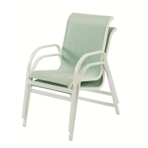 sling dining chair with sling fabric and aluminum frame