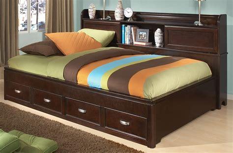 twin bookcase storage bed park city merlot twin bookcase storage lounge bed from
