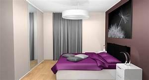 Chambre Grise Et Beige : chambre prune et gris ides ~ Melissatoandfro.com Idées de Décoration