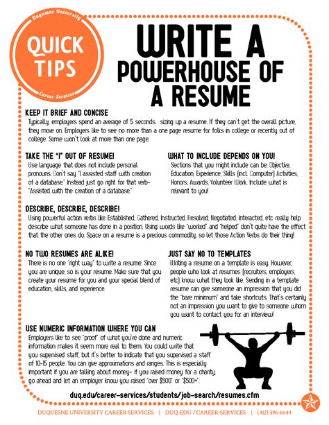 5 Tips To Write A Resume write a powerhouse of a resume resume tips