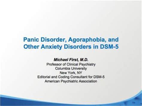 panic disorder  agoraphobia  anxiety disorders