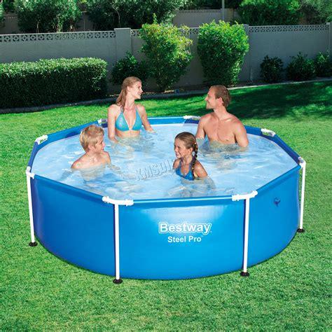frame pool bestway bestway family swimming paddling steel pro frame pool 8ft