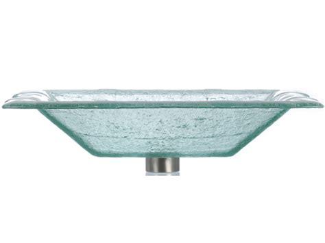 rectangular clear glass vessel sinks rg rectangular glass vessel clear rgw las07 clear