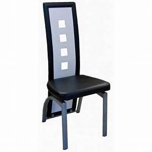 lot de six chaises de salle a manger noir et bl achat With salle À manger contemporaineavec chaise noir et blanche
