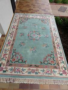 tapis chinois en pure laine tufte main luckyfind With tapis chinois laine